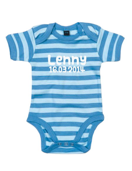 Baby Body gestreift Hellblau