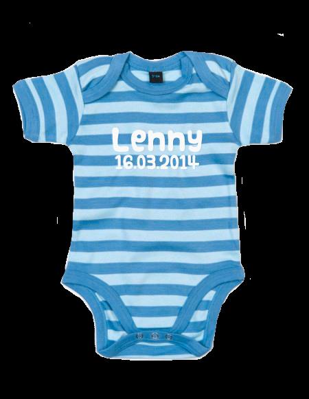 Baby Body gestreift Hellblau