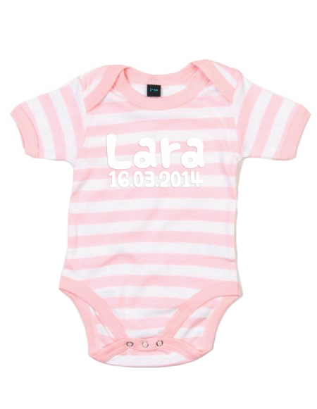 Baby Body gestreift Rosa